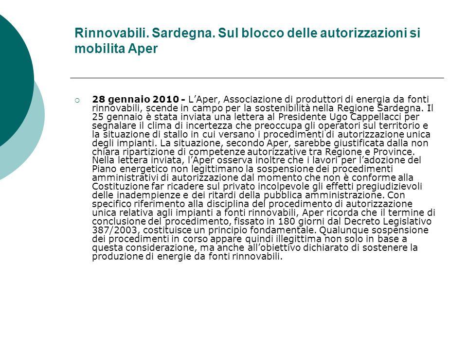 Rinnovabili. Sardegna.