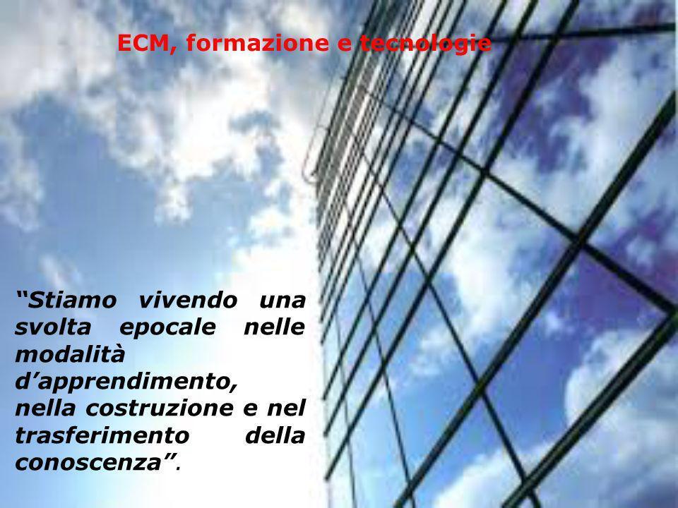 ECM, formazione e tecnologie Stiamo vivendo una svolta epocale nelle modalità dapprendimento, nella costruzione e nel trasferimento della conoscenza.