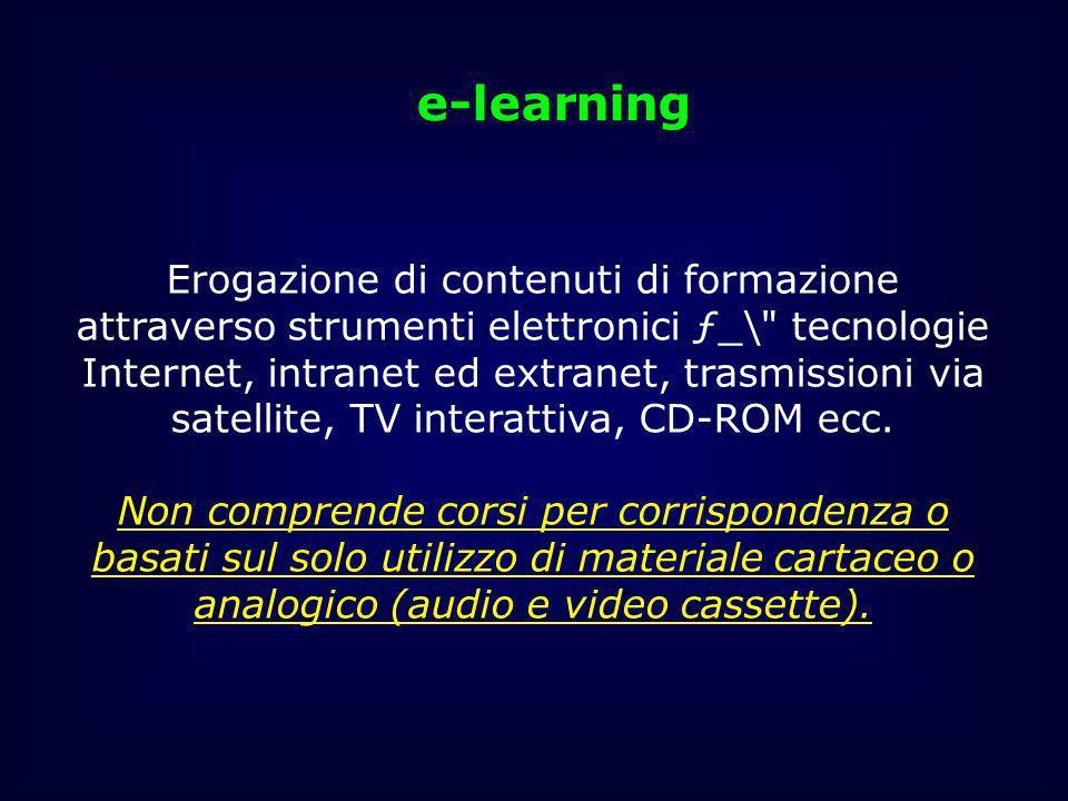 Erogazione di contenuti di formazione attraverso strumenti elettronici ƒ_\