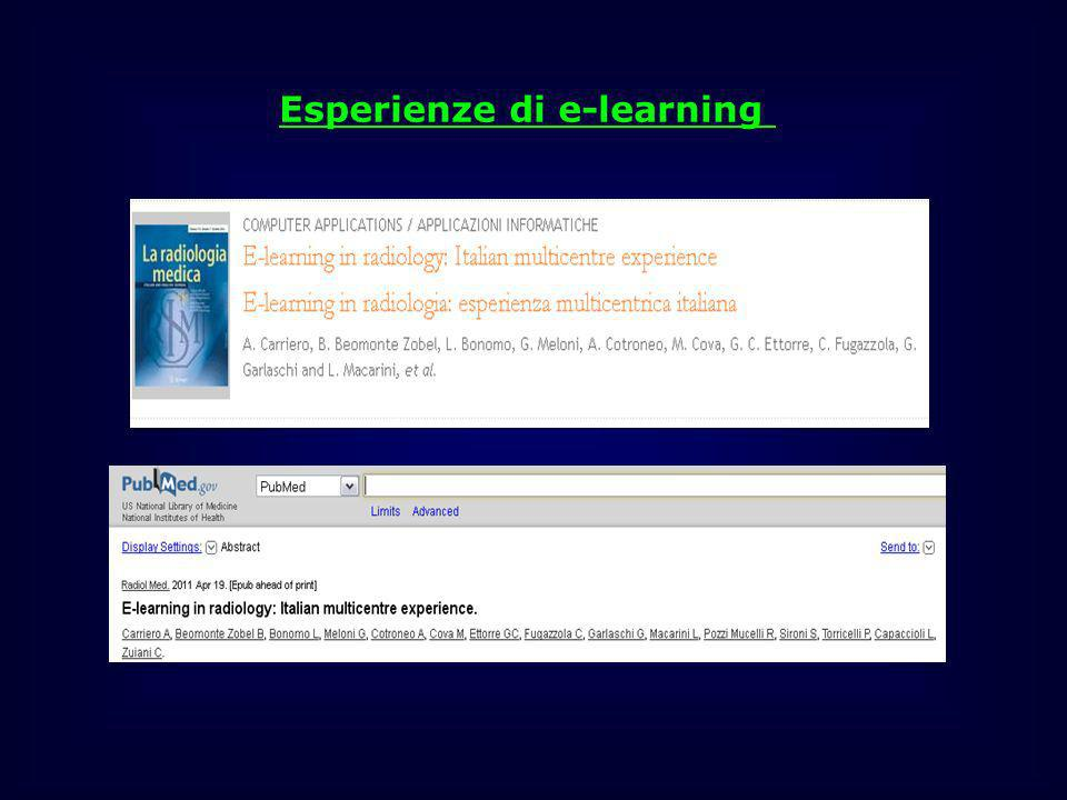 Esperienze di e-learning