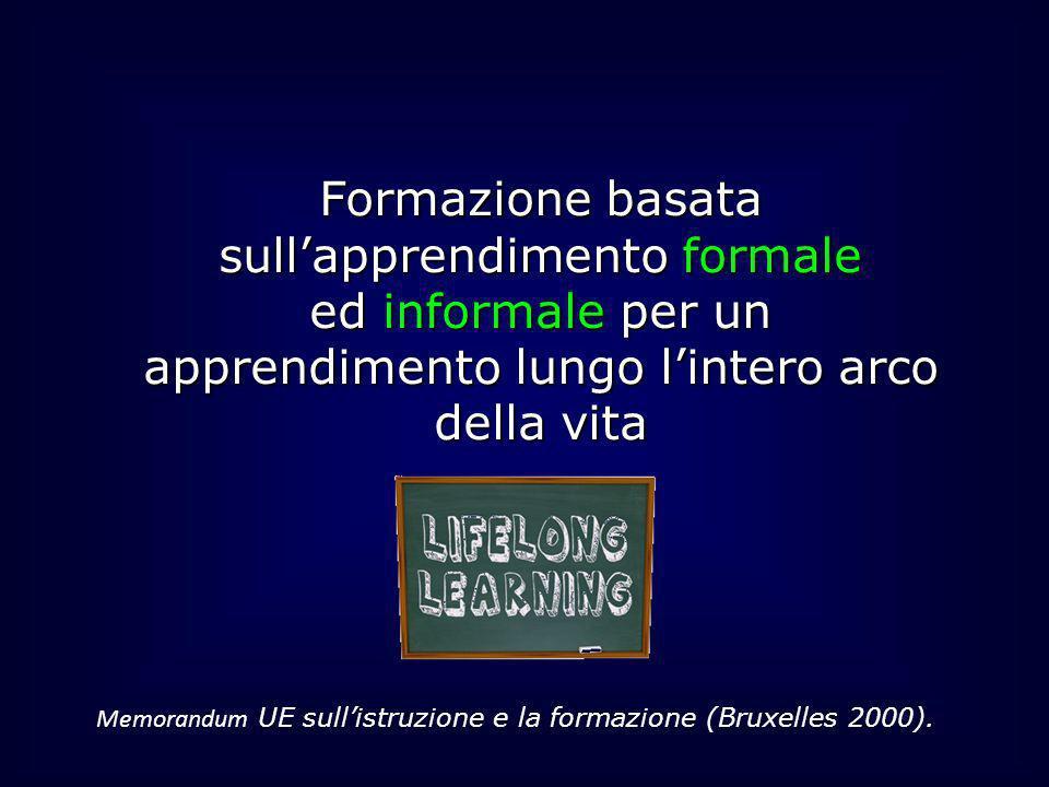 Formazione basata sullapprendimento formale ed informale per un apprendimento lungo lintero arco della vita Memorandum UE sullistruzione e la formazio