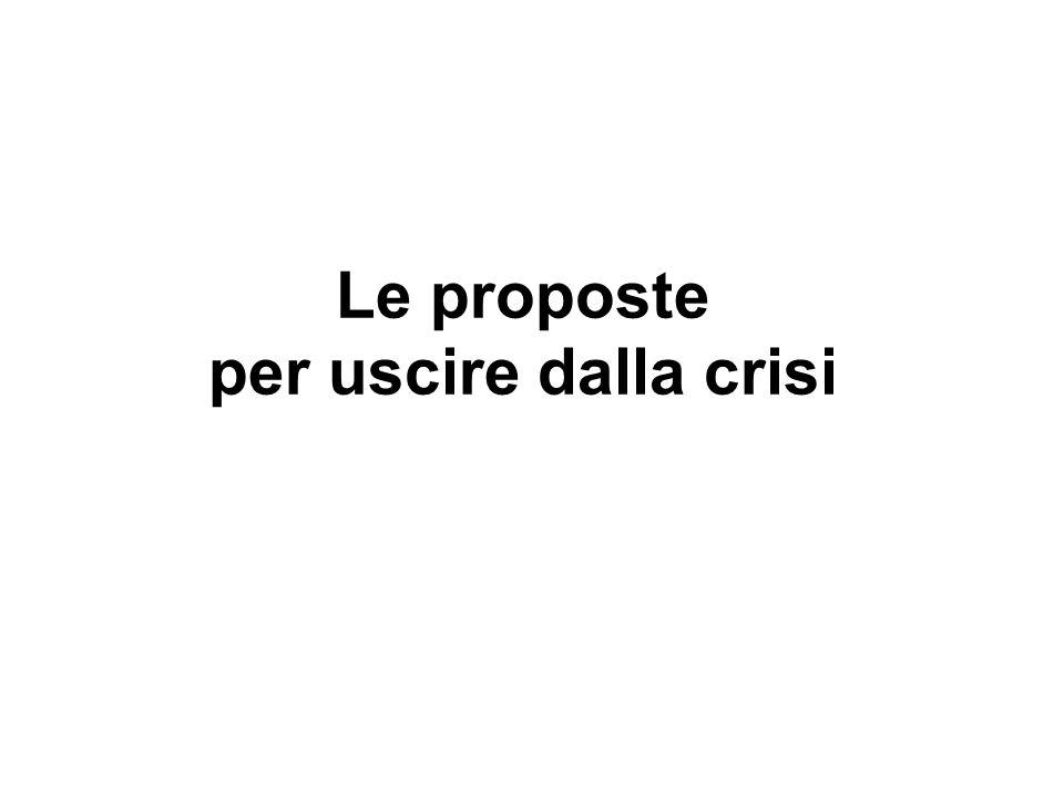 Le proposte per uscire dalla crisi