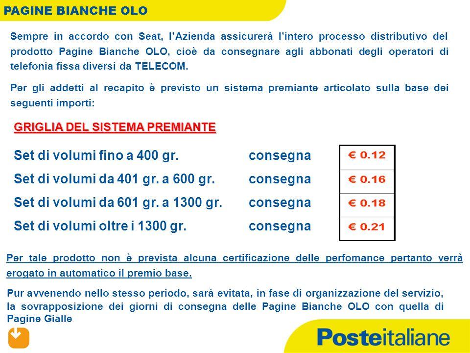 Poste Italiane ha firmato un contratto con SEAT, attraverso il quale lAzienda si è impegnata ad assicurare la distribuzione del prodotto PACKAGE, costituito da un volume di PAGINEGIALLE Lavoro e da un volume di PAGINEBIANCHE.
