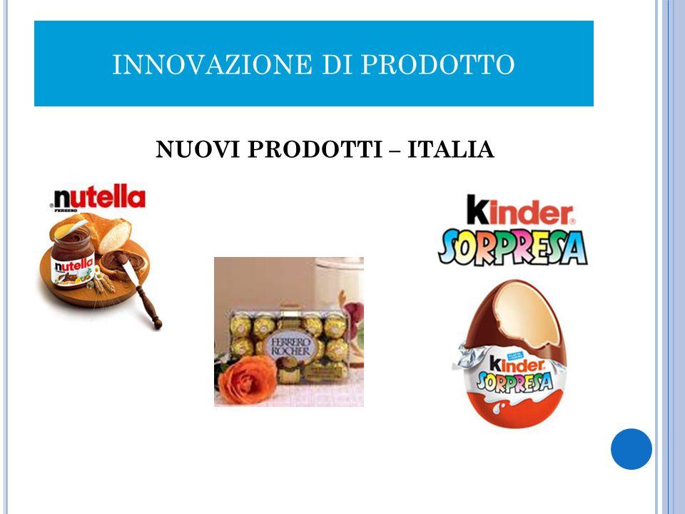 INNOVAZIONE DI PRODOTTO NUOVI PRODOTTI – ITALIA