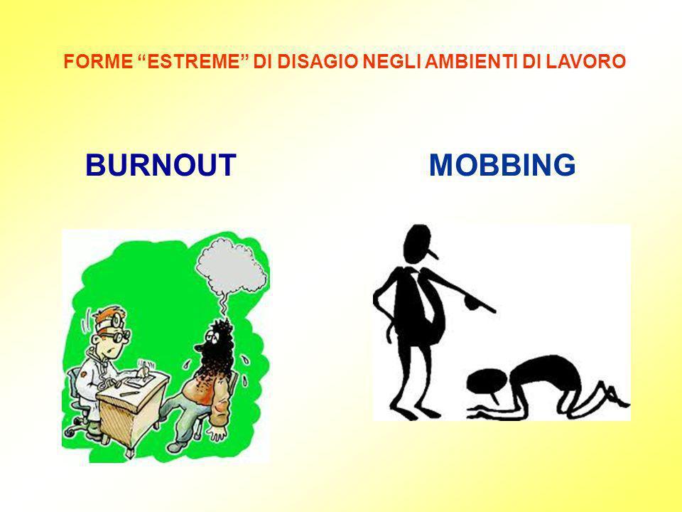 FORME ESTREME DI DISAGIO NEGLI AMBIENTI DI LAVORO BURNOUTMOBBING