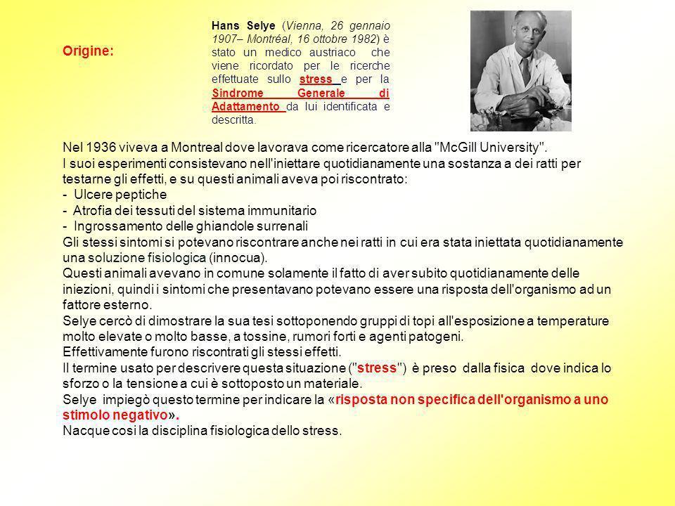 Hans Selye (Vienna, 26 gennaio 1907– Montréal, 16 ottobre 1982) è stato un medico austriaco che viene ricordato per le ricerche effettuate sullo stres