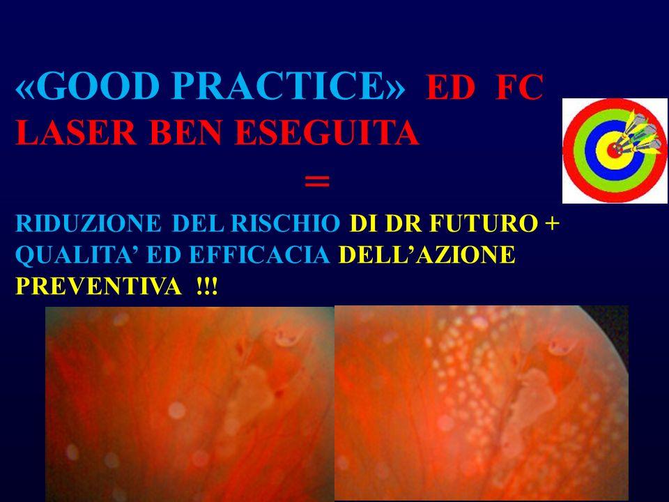 «GOOD PRACTICE» ED FC LASER BEN ESEGUITA = RIDUZIONE DEL RISCHIO DI DR FUTURO + QUALITA ED EFFICACIA DELLAZIONE PREVENTIVA !!!