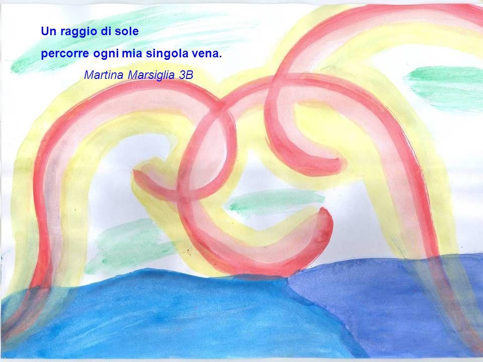 Guardo il mare illuminato e mi tuffo nella sua immensità Claudio Cavallaro 3B