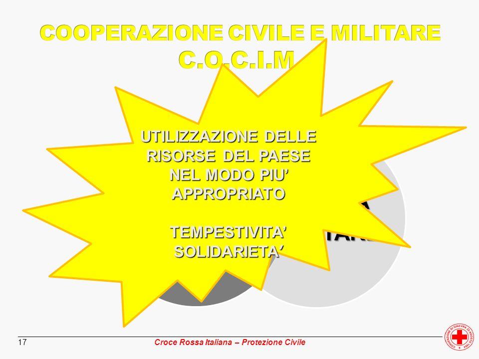 ________________________________________________________________________________________________ Croce Rossa Italiana – Protezione Civile 17 DIFESACIV