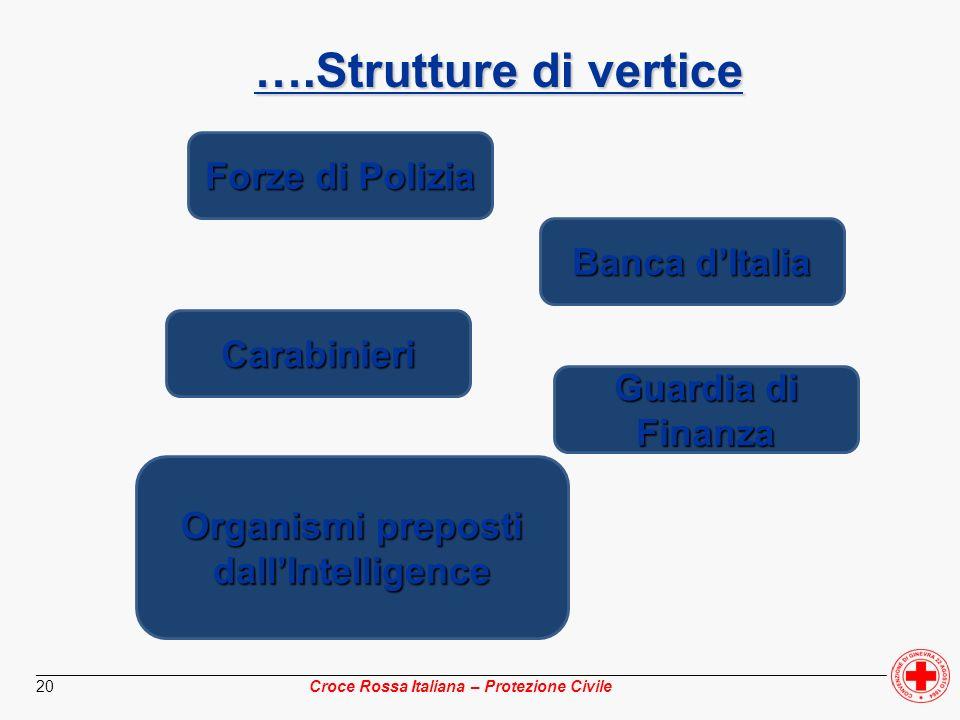 ________________________________________________________________________________________________ Croce Rossa Italiana – Protezione Civile 20 Forze di