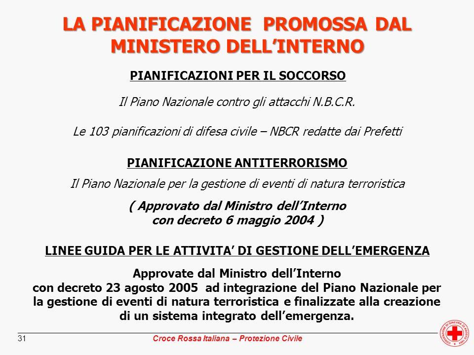 ________________________________________________________________________________________________ Croce Rossa Italiana – Protezione Civile 31 LA PIANIF