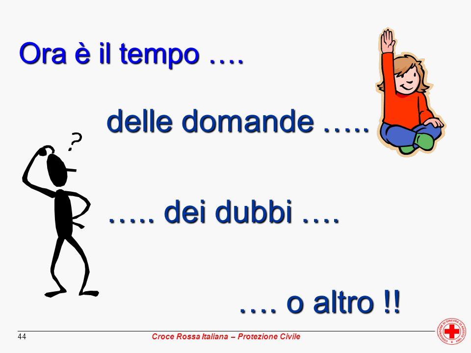 ________________________________________________________________________________________________ Croce Rossa Italiana – Protezione Civile 44 Ora è il