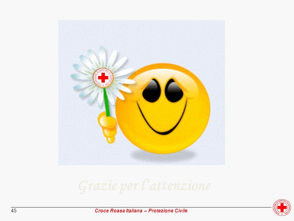 ________________________________________________________________________________________________ Croce Rossa Italiana – Protezione Civile 45 Grazie pe