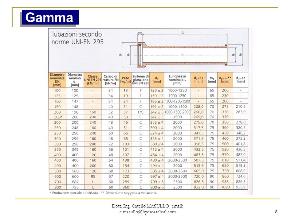 Dott. Ing. Catello MASULLO email: c.masullo@hydroarchsrl.com 8 Gamma