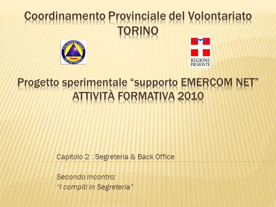Capitolo 2 : Segreteria & Back Office Secondo Incontro: I compiti in Segreteria