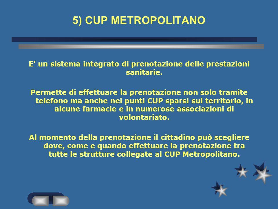 PRENOTAZIONE TRAMITE CUP METROPOLITANO TELEFONICA DI PERSONA ATTIVITA - Inserimento del paziente nelle agende informatiche -orientamento del paziente
