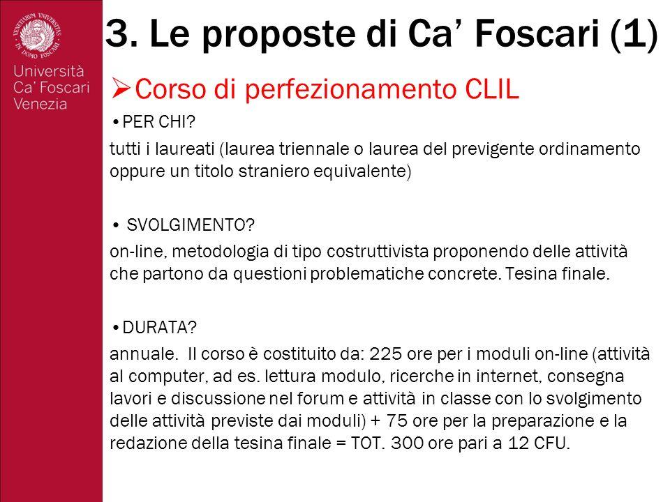 Corso di perfezionamento CLIL CONTENUTI.