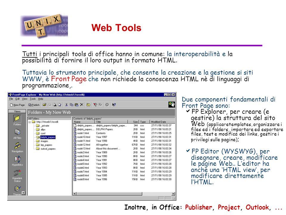 Power Point Power Point è un tool dedicato alla realizzazione di presentazioni.