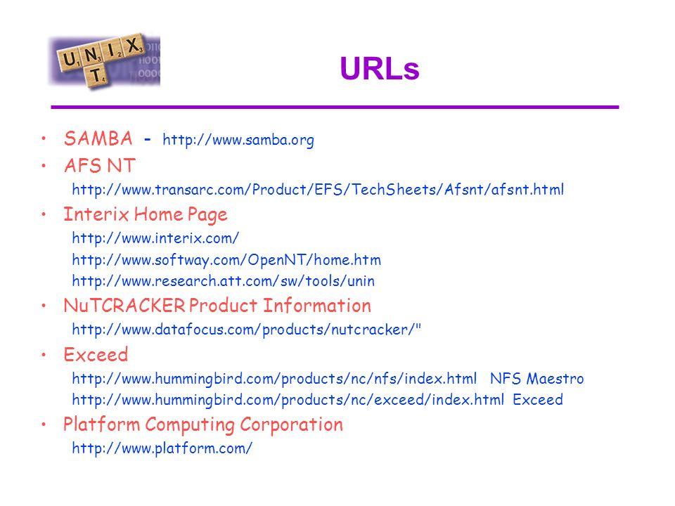 Conclusione Unix ed NT sono solo sistemi operativi e non universi paralleli Posso coesistere e condividere molti servizi ma ….