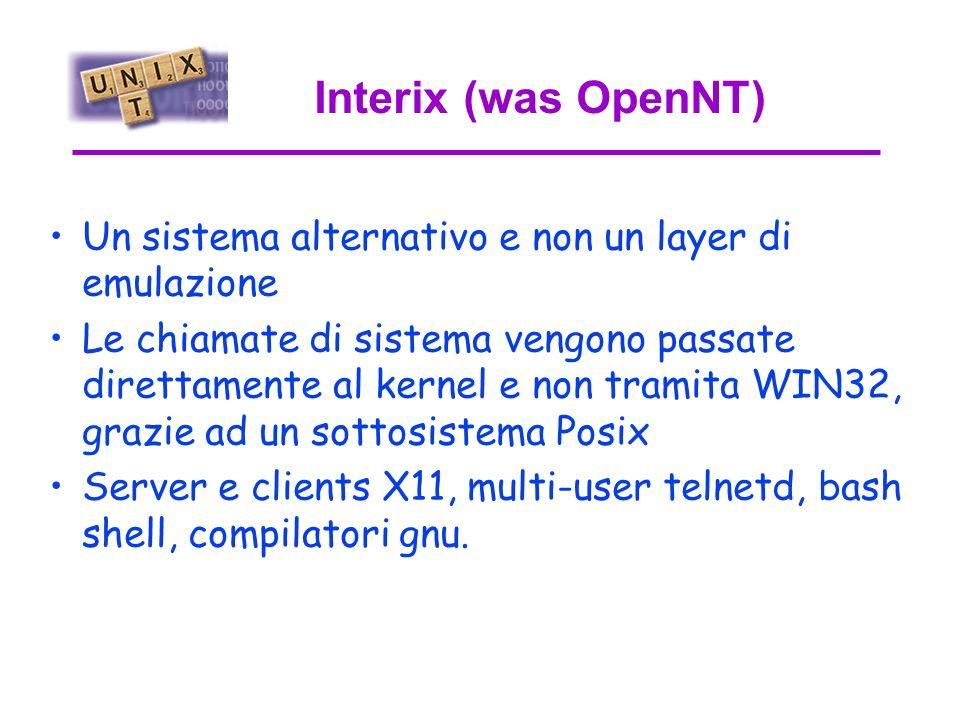 NuTcracker E un set molto esteso di librerie che interfacciano chiamate di sistema unix a WIN32