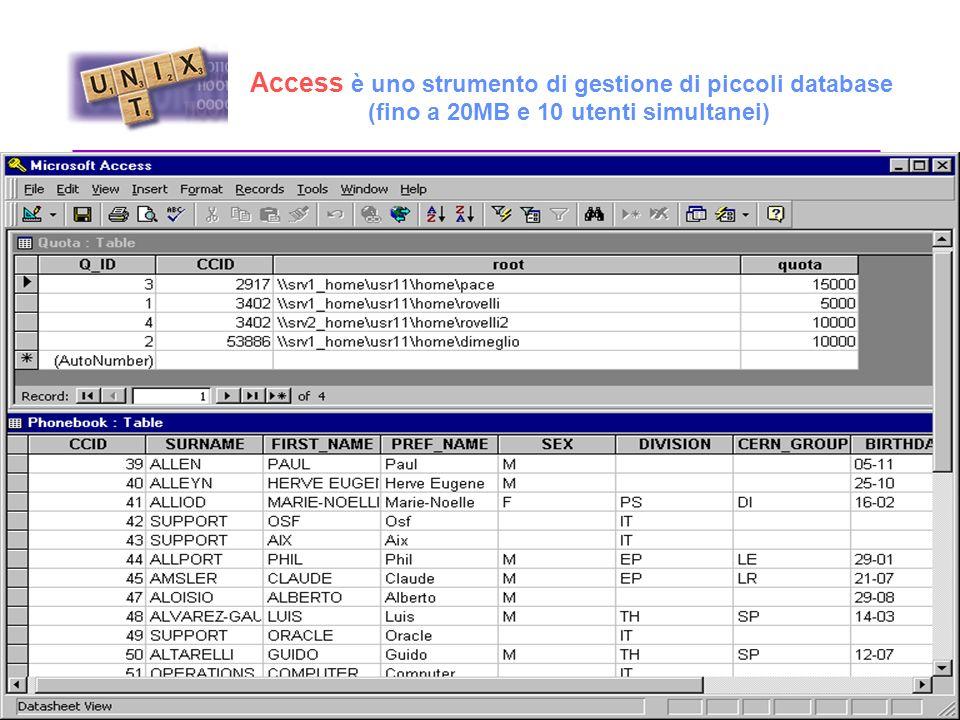 Ms Office Access (DataBase) Excel (Foglio di Lavoro) MS Word (Word Processor) PowerPoint (Presentazioni) Front Page (Web Editing)