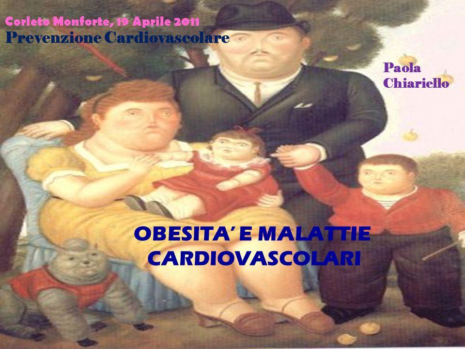 OBESITA E MALATTIE CARDIOVASCOLARI Corleto Monforte, 19 Aprile 2011 Prevenzione Cardiovascolare Paola Chiariello