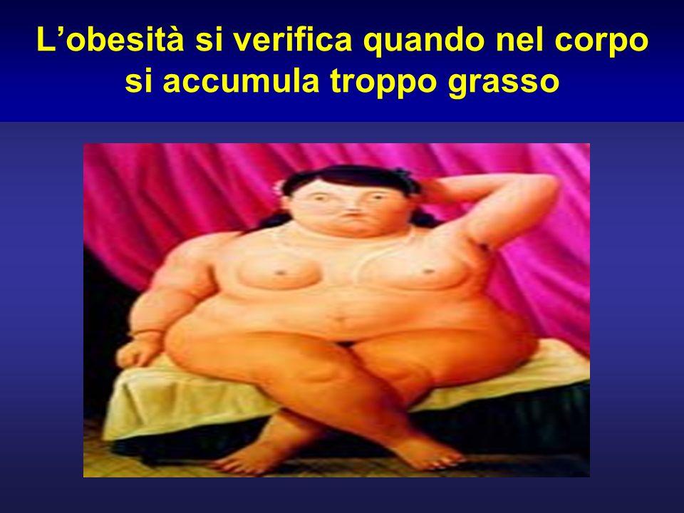 Lobesità si verifica quando nel corpo si accumula troppo grasso