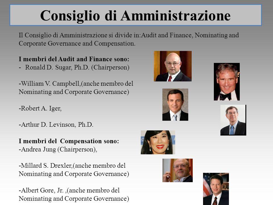 I membri del Audit and Finance sono: -Ronald D. Sugar, Ph.D. (Chairperson) -William V. Campbell,(anche membro del Nominating and Corporate Governance)