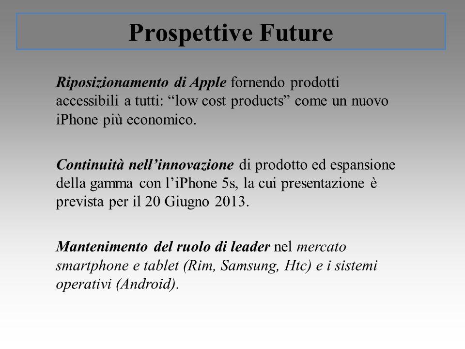 Riposizionamento di Apple fornendo prodotti accessibili a tutti: low cost products come un nuovo iPhone più economico.