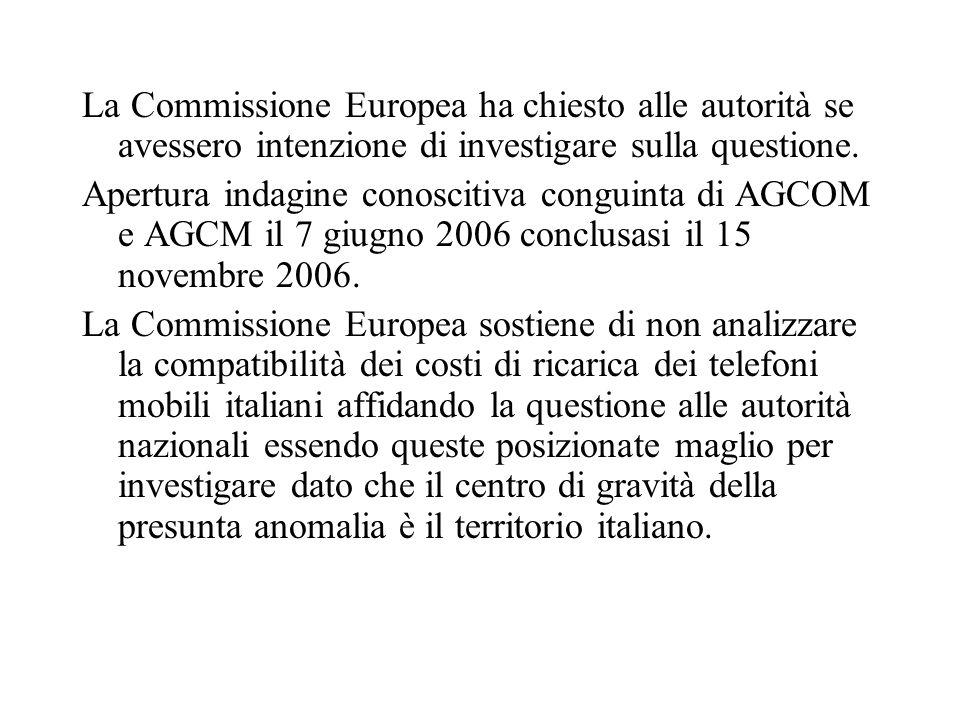 AGCOM e AGCM Compito: monitorare il mercato ed intervenire a livello regolamentare qualora sia ritenuto necessario.