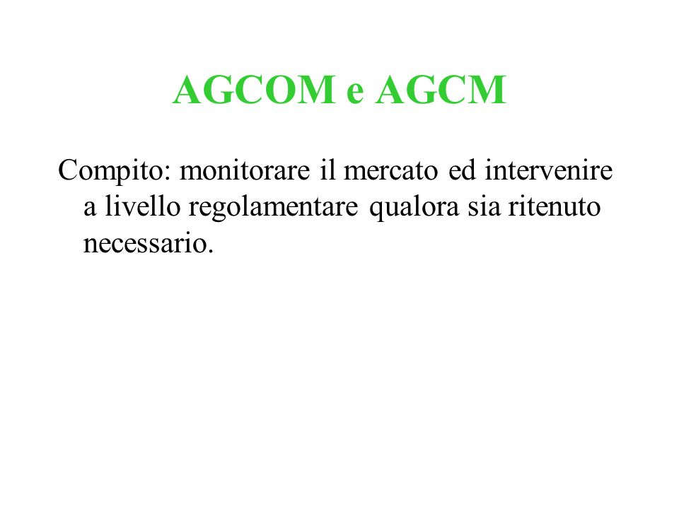 CONVOCAZIONE Operatori mobili nazionali: Telecom Italia SpA Vodafone Omnitel N.V.