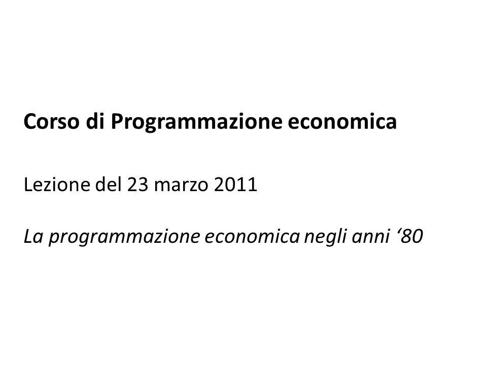La programmazione economica negli anni 80 La finanza locale 32