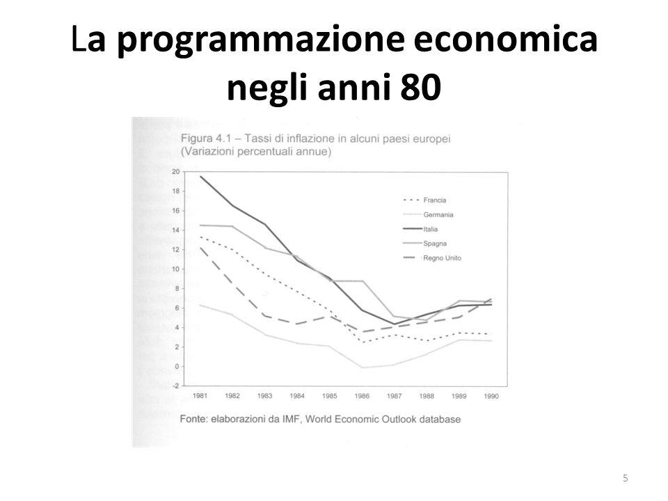 La programmazione economica negli anni 80 La perdita di controllo della spesa pubblica I Documenti di programmazione finanziaria degli anni 80 assumono lobiettivo della riduzione dei conti pubblici, ma con intensità, finalità e rigore diverso tra il primo e il secondo quinquiennio.