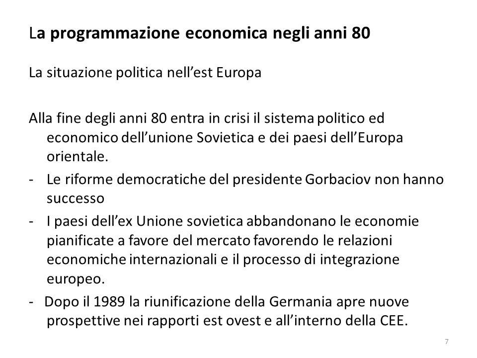 La programmazione economica negli anni 80 La riforma è efficace, ma non risolutiva: Prima della entrata in vigore delle legge 362 il Parlamento ampliava anche del 50% il saldo netto da finanziare.