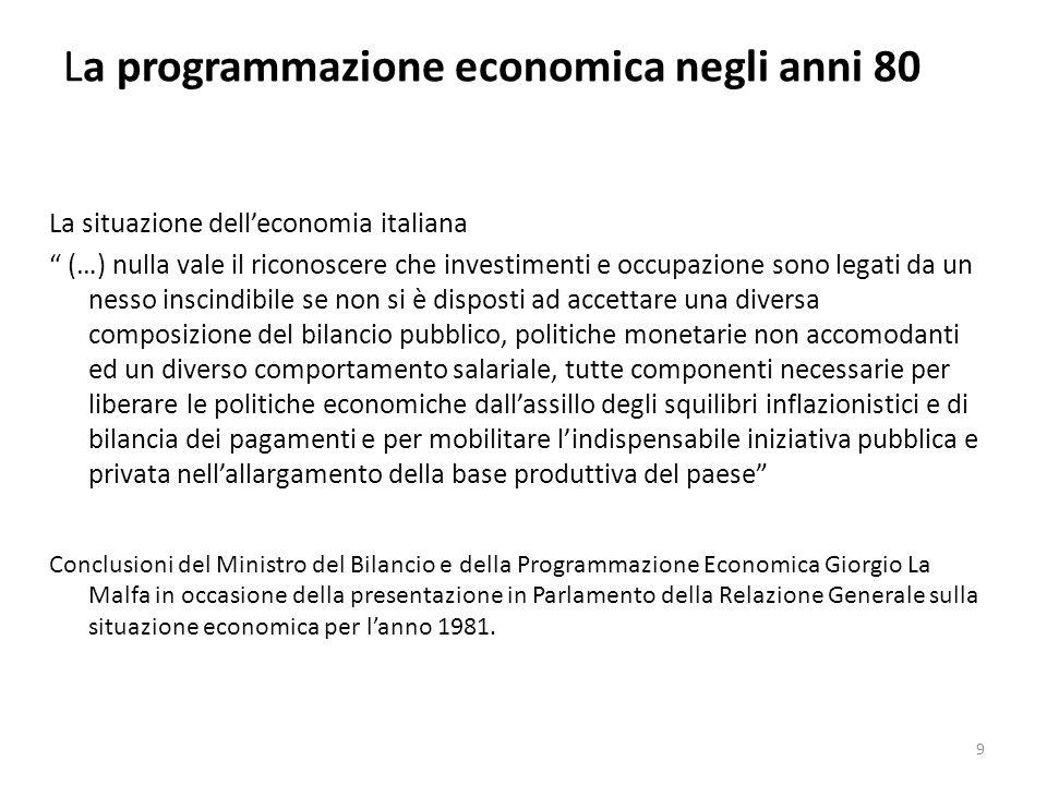 La programmazione economica negli anni 80 La riforma dellintervento nel Mezzogiorno 40