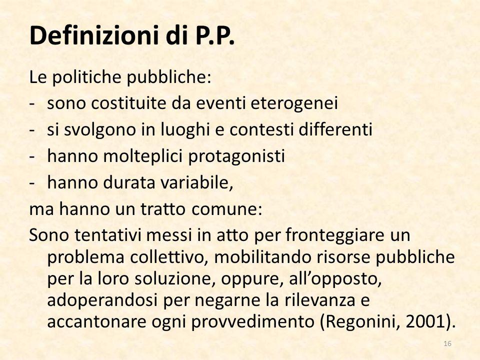 Definizioni di P.P.