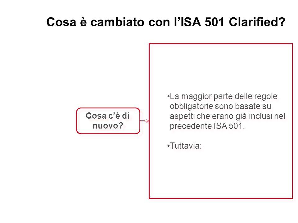 Cosa è cambiato con lISA 501 Clarified? Cosa cè di nuovo? La maggior parte delle regole obbligatorie sono basate su aspetti che erano già inclusi nel
