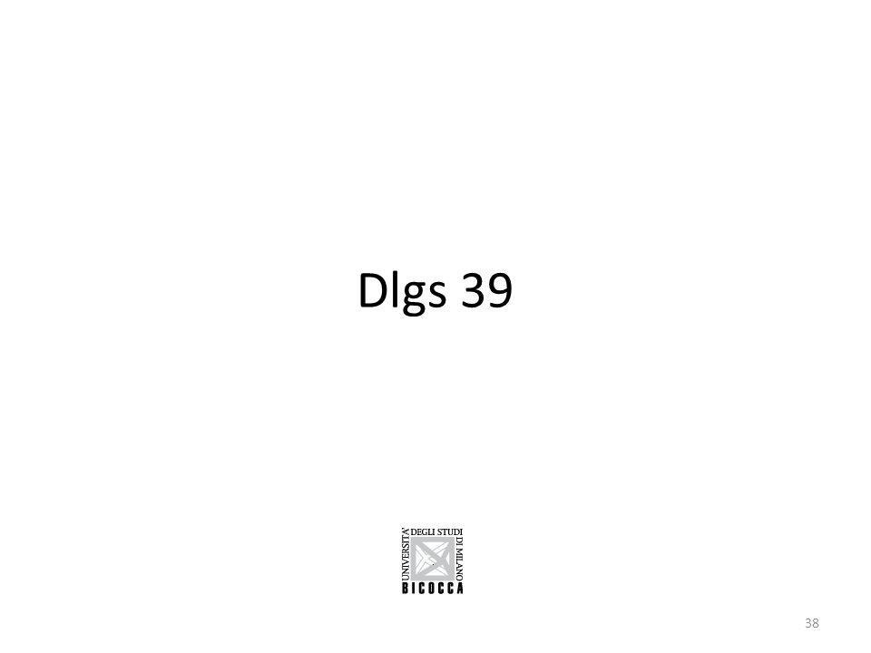 Dlgs 39 38