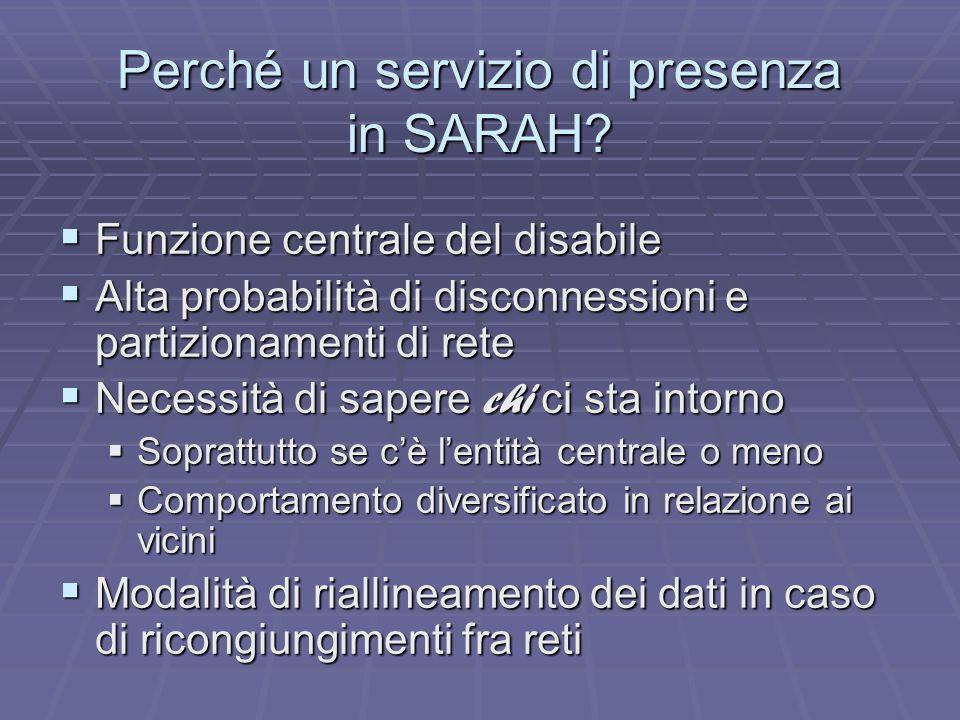 Perché un servizio di presenza in SARAH.