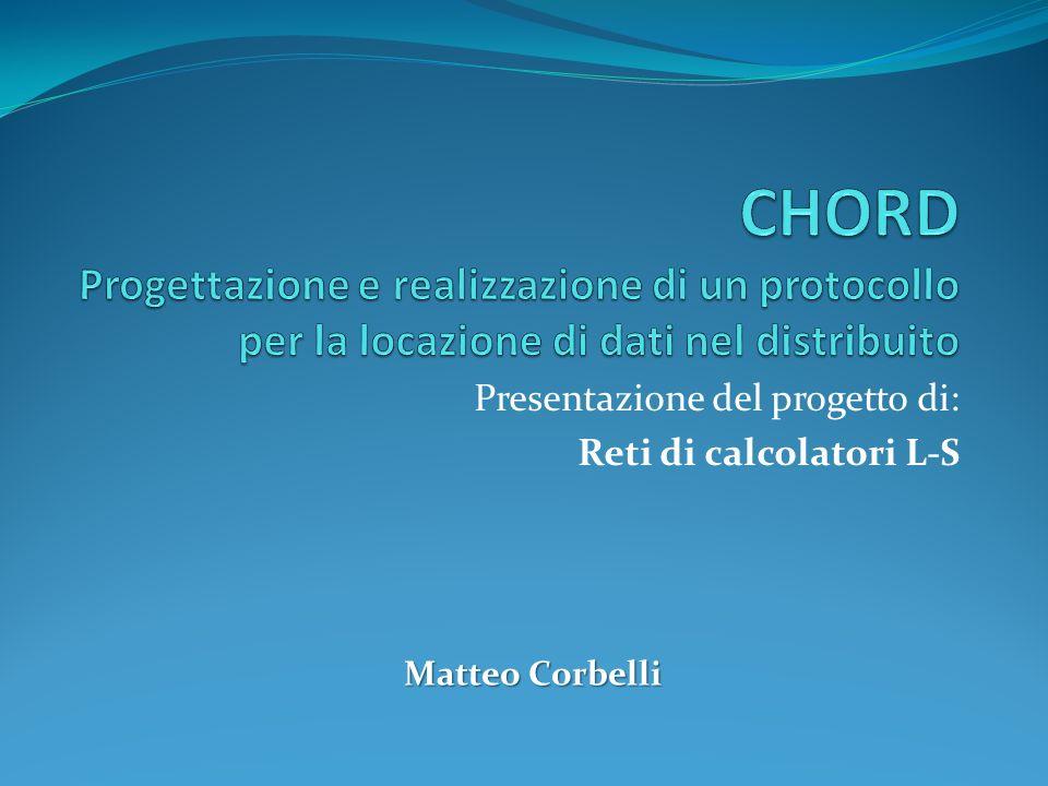Presentazione del progetto di: Reti di calcolatori L-S Matteo Corbelli