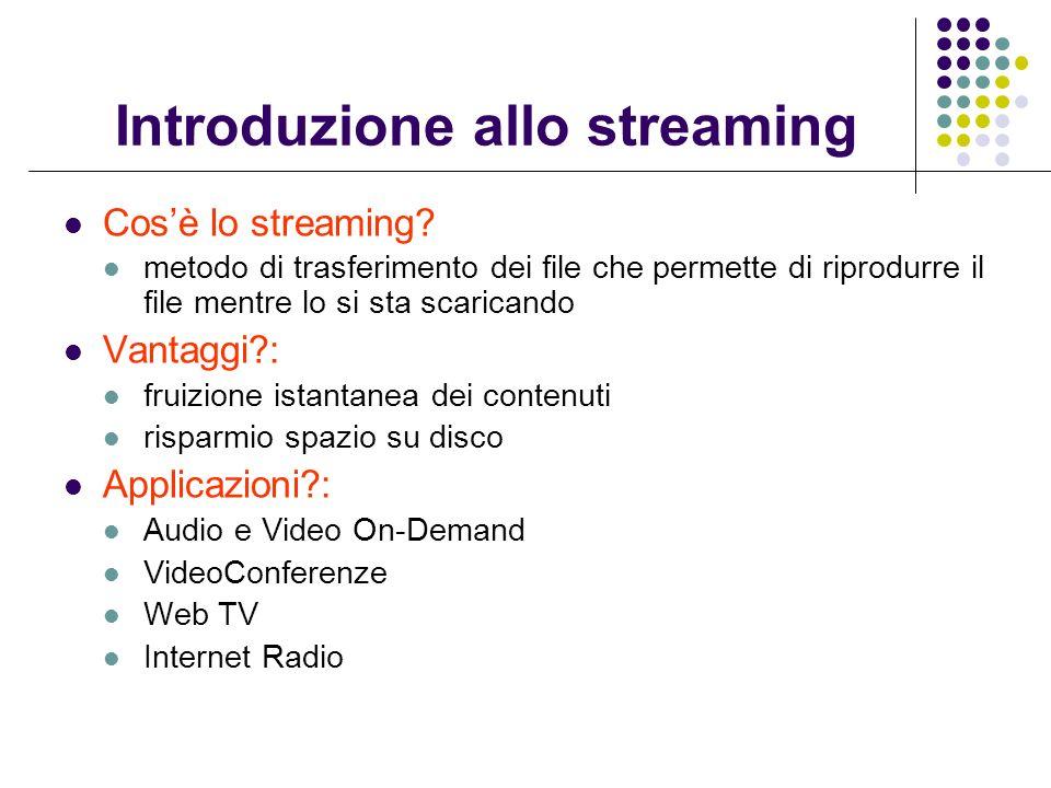 Introduzione allo streaming Cosè lo streaming.