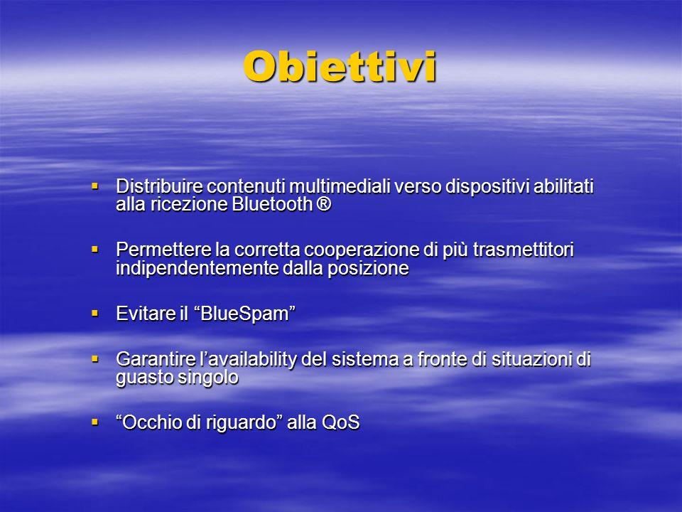 Obiettivi Distribuire contenuti multimediali verso dispositivi abilitati alla ricezione Bluetooth ® Distribuire contenuti multimediali verso dispositi