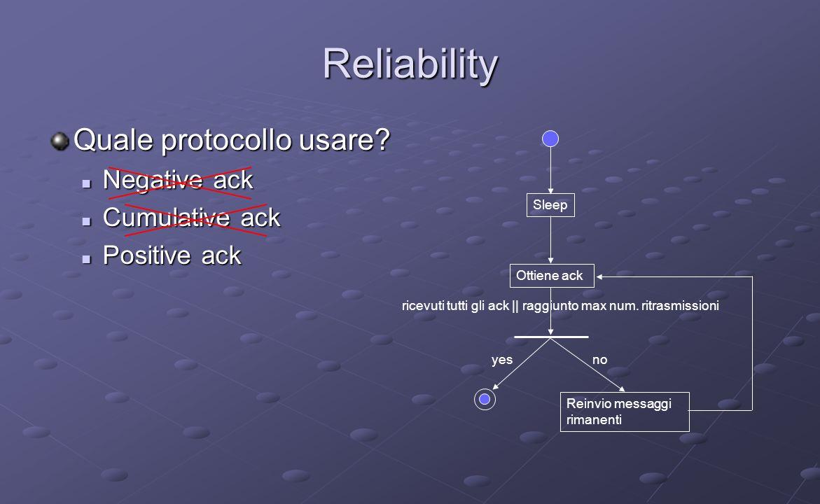 Reliability Quale protocollo usare.