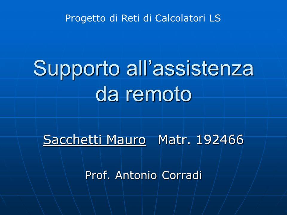 Supporto allassistenza da remoto Sacchetti MauroMatr.