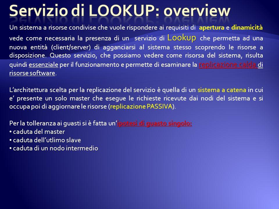 WSP/ MP MULticastPort MULticastPort: porta di multicast necessaria per il discovery Quando nasce un LookUpService manda un messaggio multicast per sapere se ci sono altri LookUpServices nel sistema.