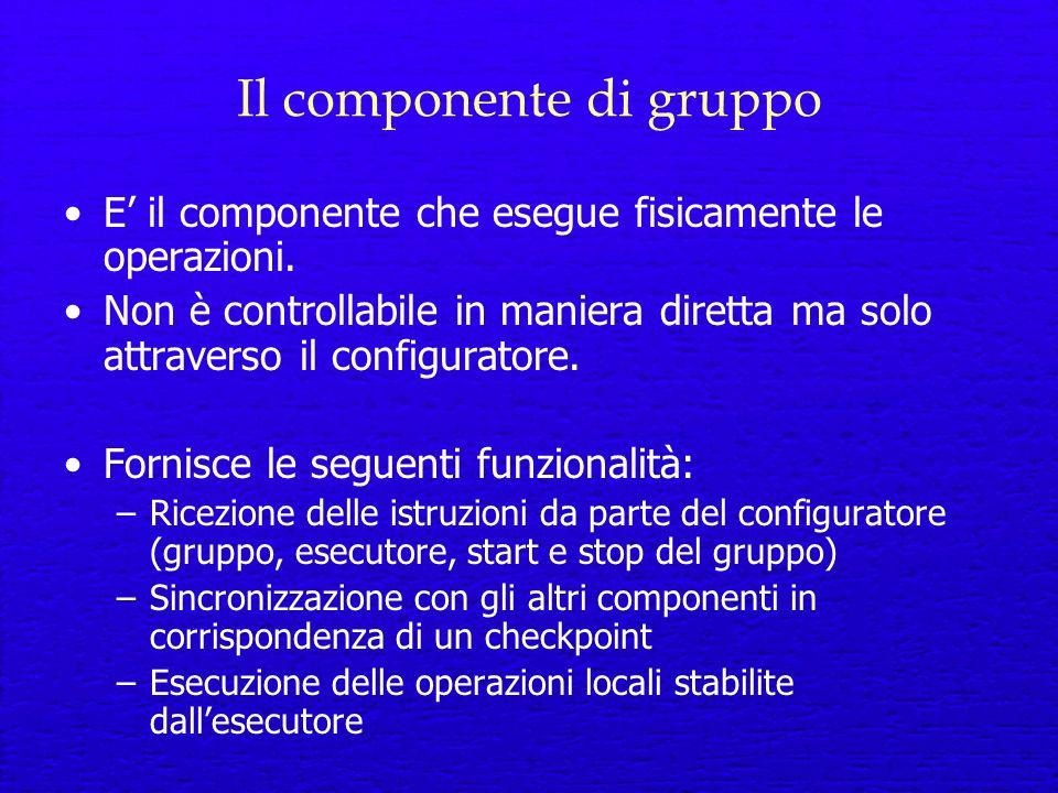Il componente di gruppo E il componente che esegue fisicamente le operazioni.