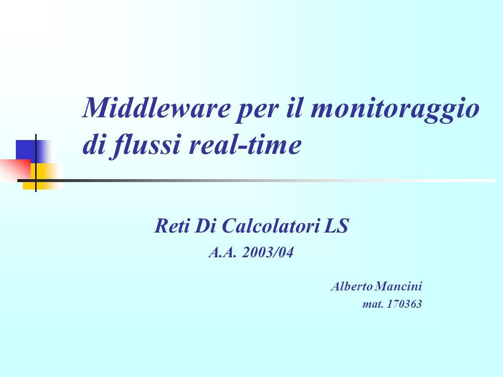 Middleware per il monitoraggio di flussi real-time Reti Di Calcolatori LS A.A.