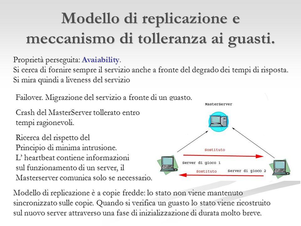 Modello di replicazione e meccanismo di tolleranza ai guasti.