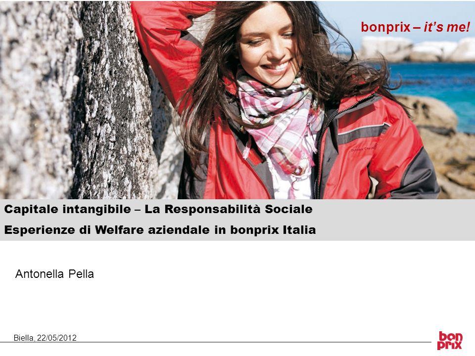 Capitale intangibile – La Responsabilità Sociale Esperienze di Welfare aziendale in bonprix Italia bonprix – its me! Antonella Pella Biella, 22/05/201
