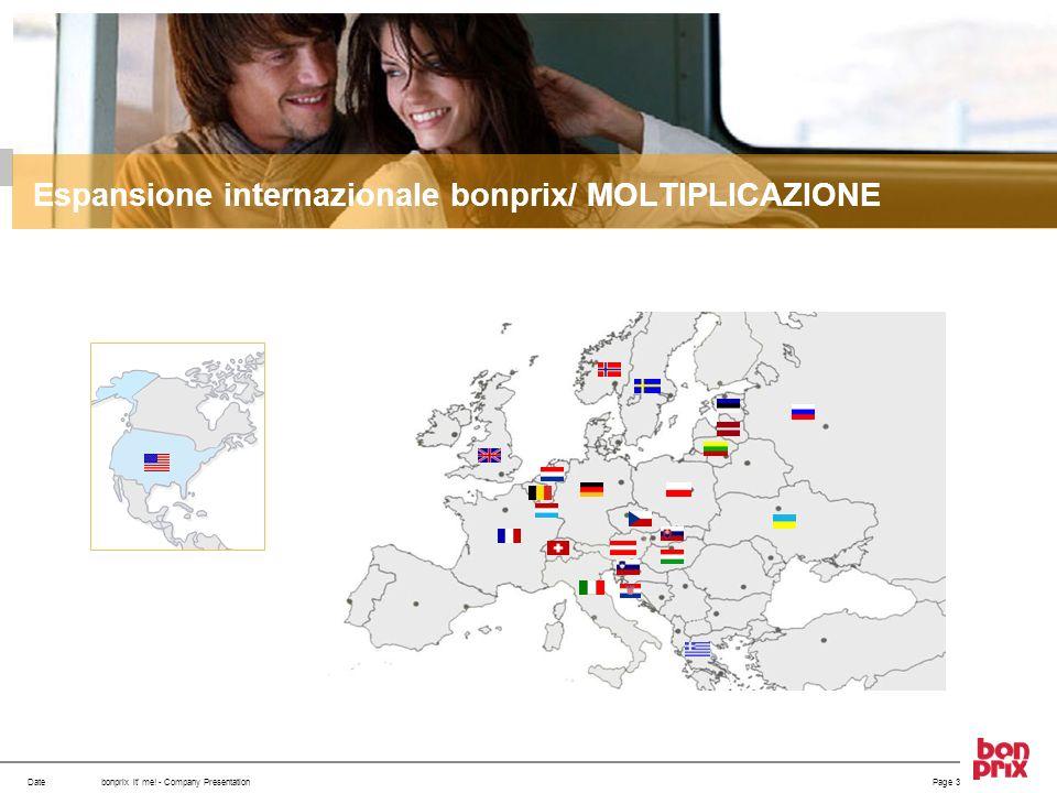 Datebonprix it' me! - Company Presentation Espansione internazionale bonprix/ MOLTIPLICAZIONE Page 3
